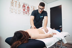 Kareem our Chiropractor treatment a female patient in our Elevate Health Clinic in Bella Vista Norwest Hills District
