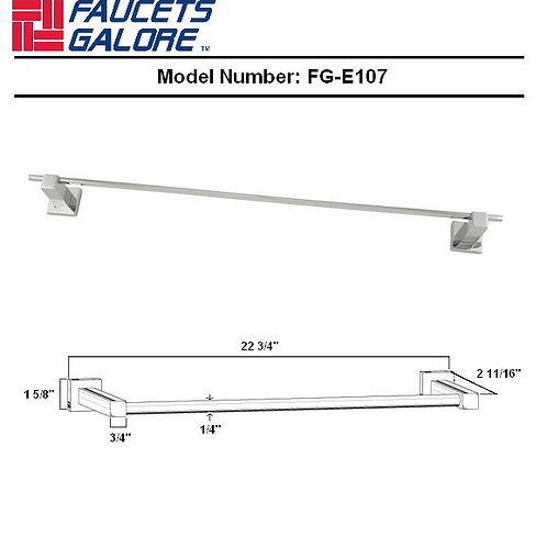 FG-E207 Faucets Galore Round Single Towel Bar