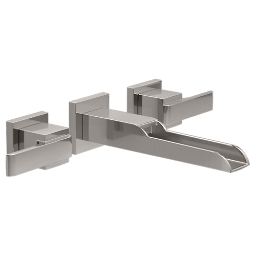 Delta Open Trough Wall Faucet In Stainless Steel