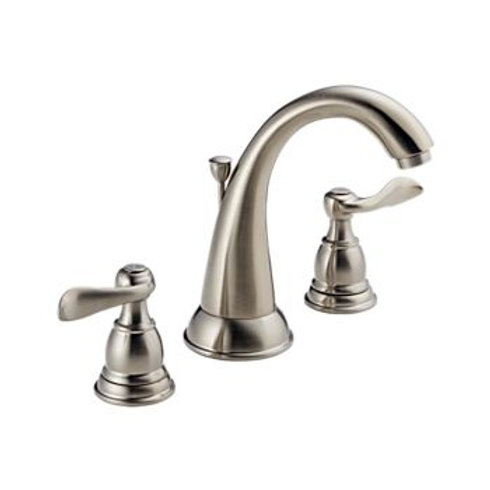 Delta Widespread Lav Faucet in Stainless