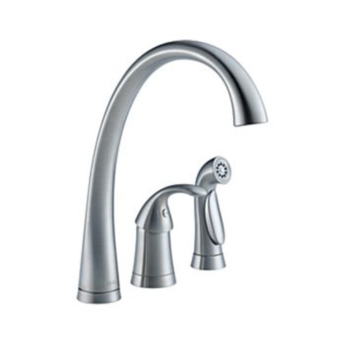 Delta Three Hole Kitchen Faucet in Stainless