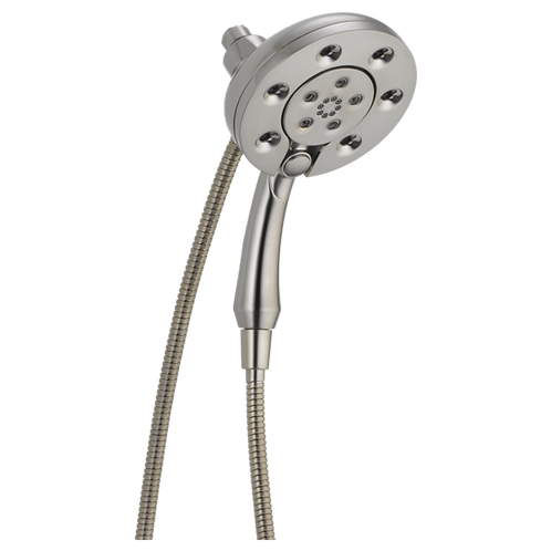 Delta 4-Setting Two-in-One Shower Head In Stainless Finish