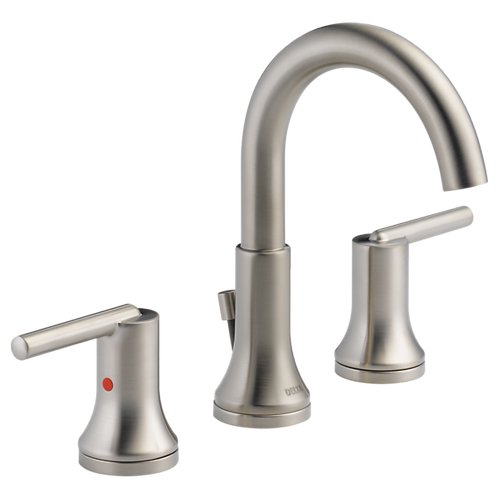Delta Two Handle Widespread Lavatory Faucet In Stainless