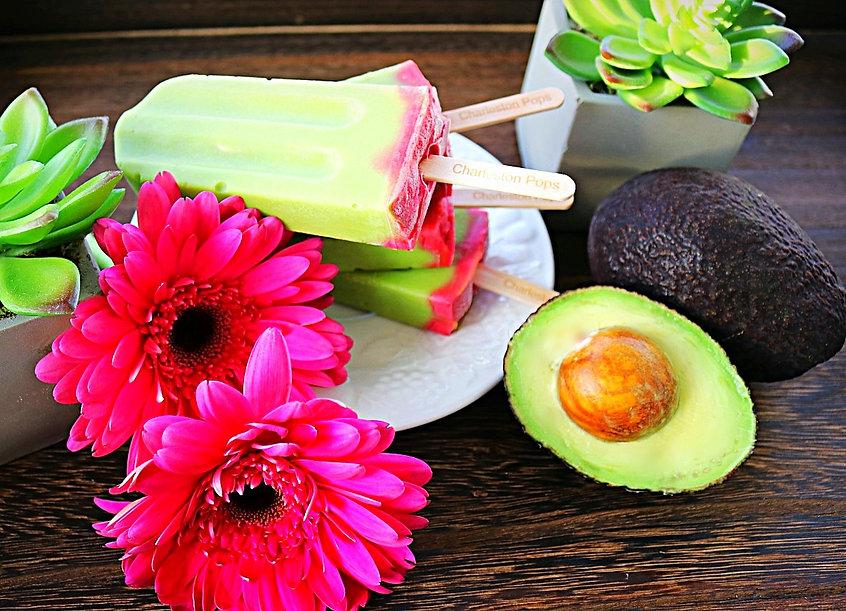 Avocado Raspberry Pops Charleston Popspg