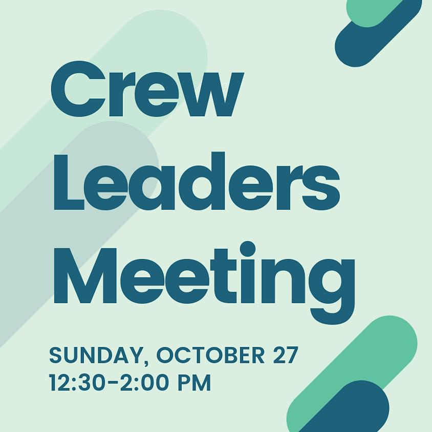 Cornerstone Crew Leader Meeting