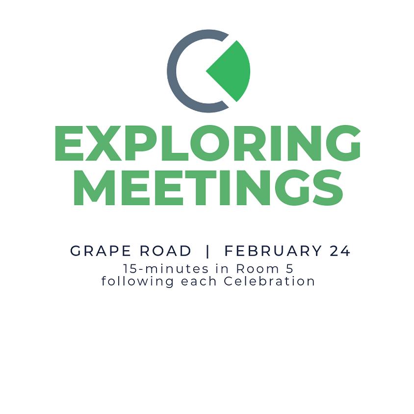 Cornerstone Exploring Meeting