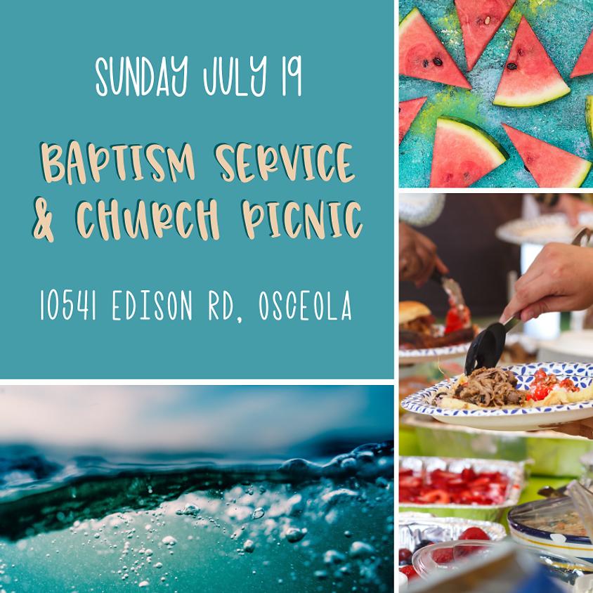 Baptism Service & Church Picnic