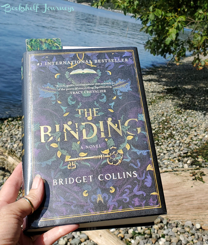 The Binding by Bridget Collins book cover on photo by Terrie Purkey