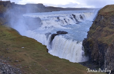 Gullfoss Falls, Iceland photo by Terrie Purkey