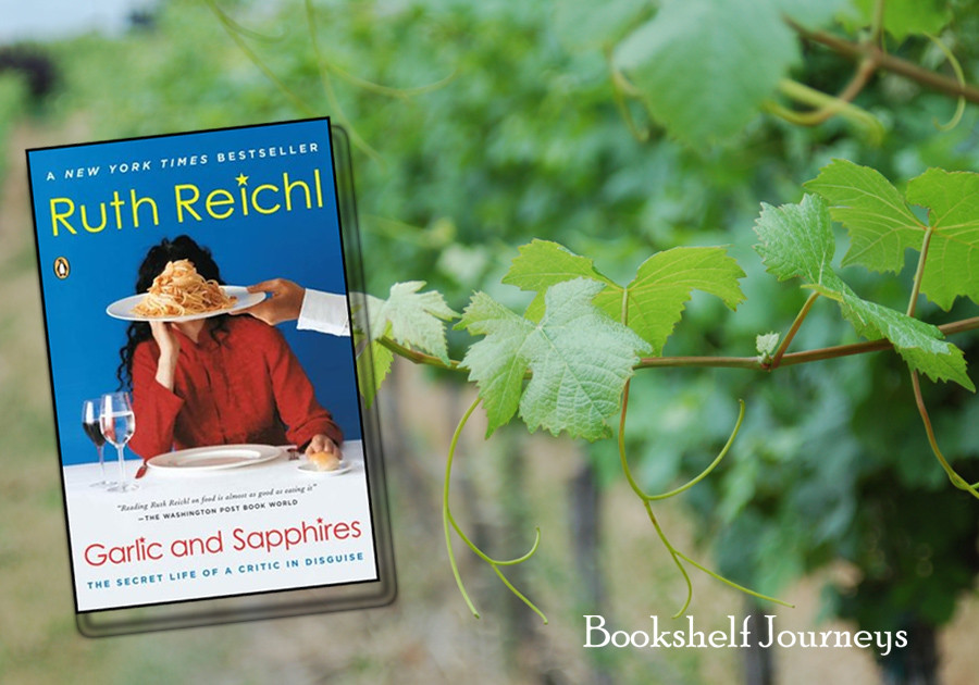 Garlic and Sapphires Book Cover on grapevine image