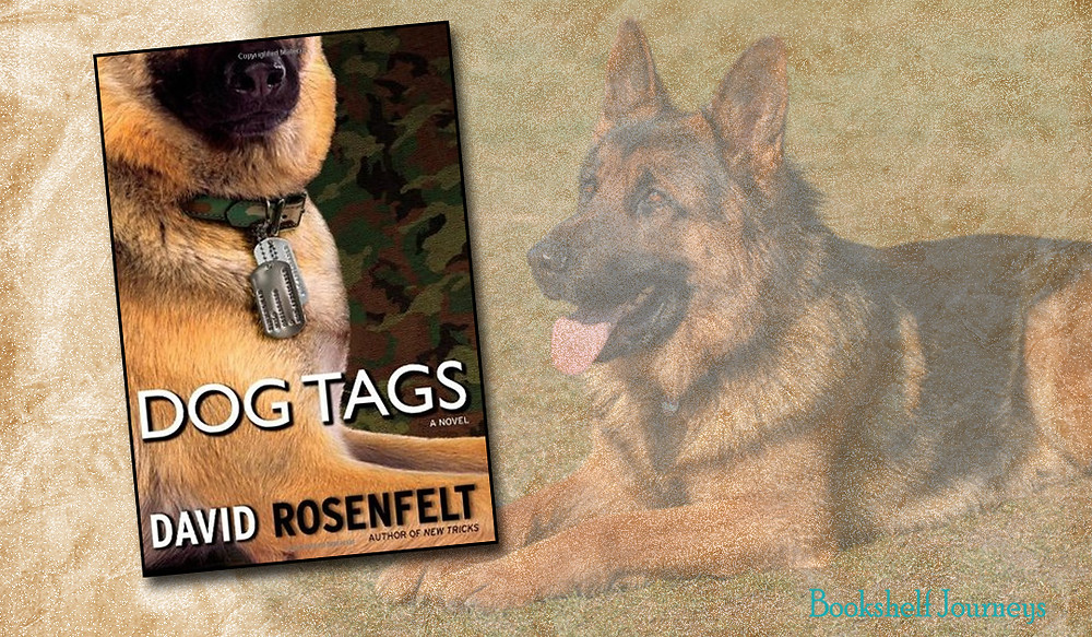 Dog Tags by David Rosenfelt book cover over pic of german shephard
