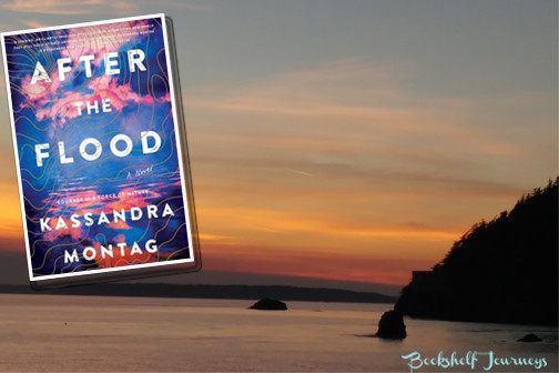 After the Flood by Kassandra Montag book cover over Puget Sound photo by Terrie Purkey
