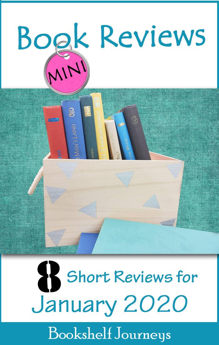 Mini Book Reviews pin image, 8 book reviews