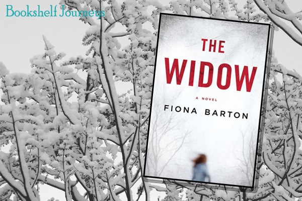 The Widow book cover image over snowy tree photo by Terrie Purkey