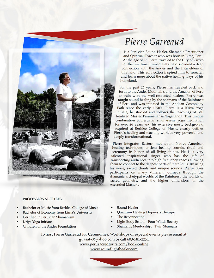 Peru Sacred Tours _Pierre Garreaud Events