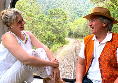 Janice & Pierre front seats to Machu Pic