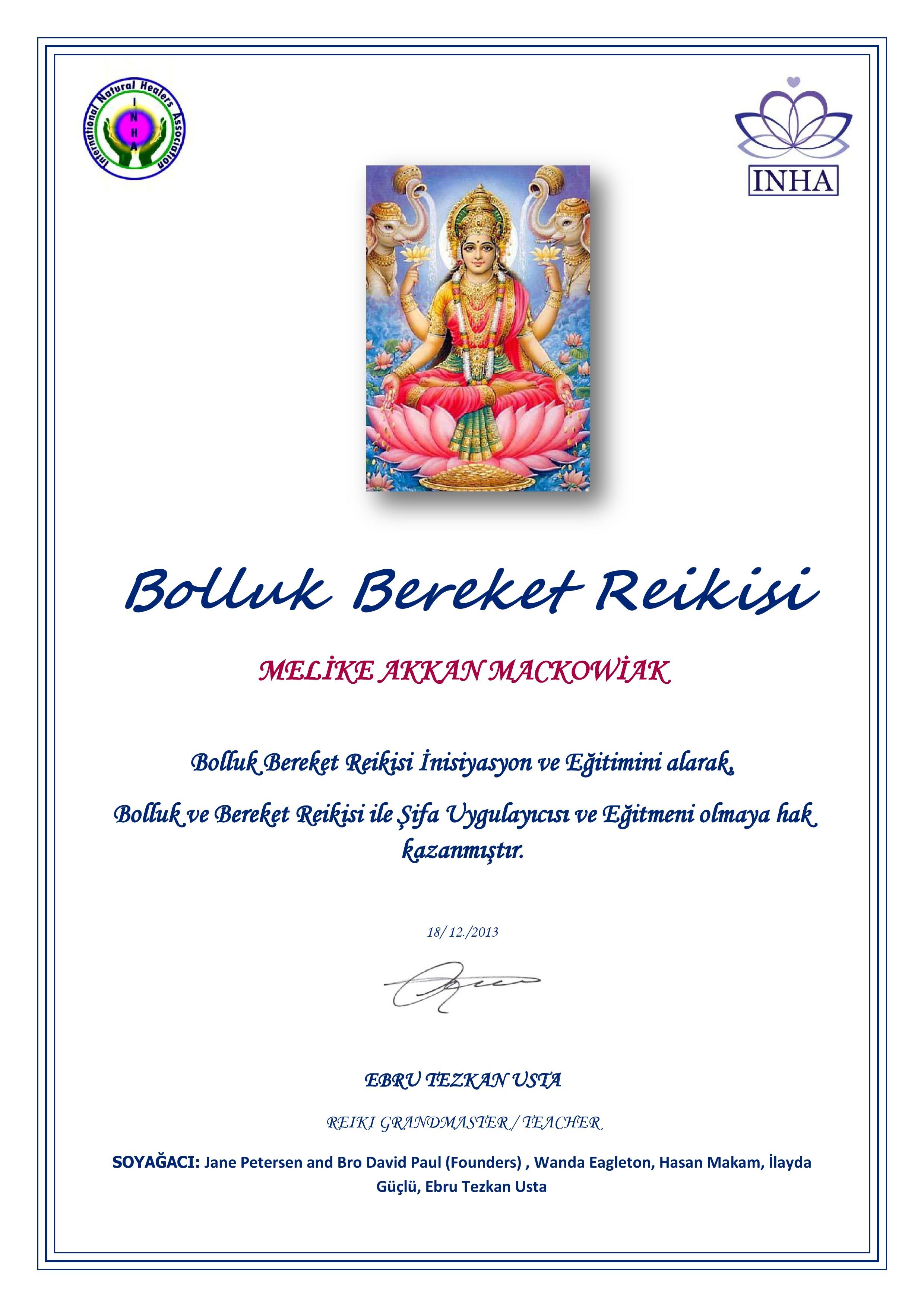 bolluk bereket sertifika -1