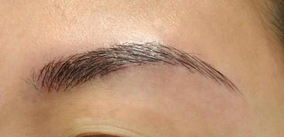 Zoom sourcil poils à poils sans contours