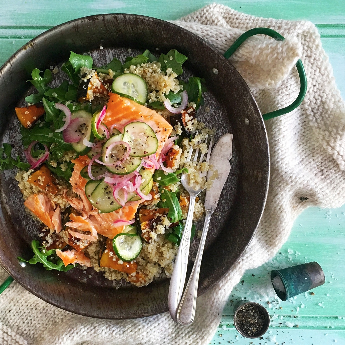 Salmon with Pickles and Quinoa Salad_edi