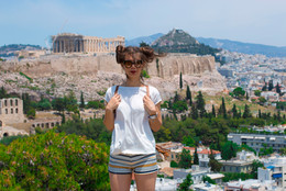 Portrait of a Girl. Street photographer in Athens for travelers.