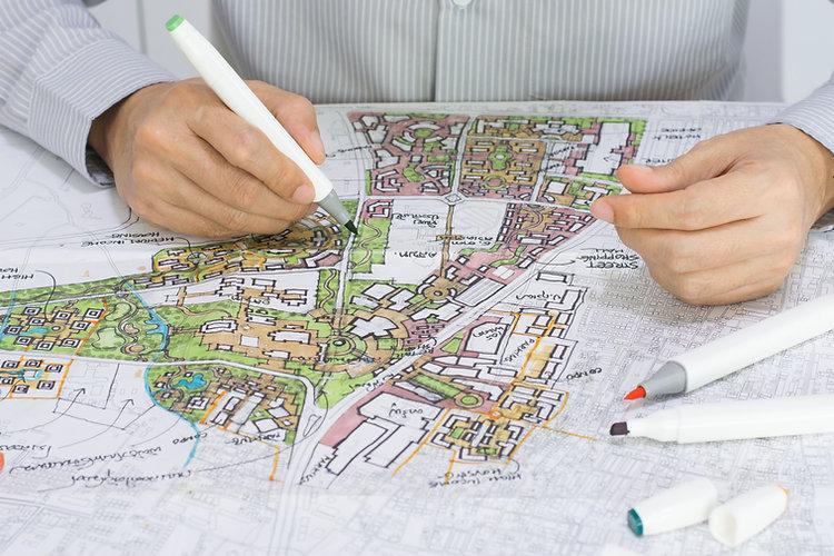 master plan of urban landscape design or
