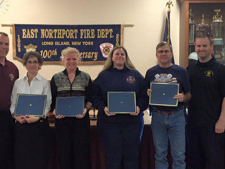 ENFD members recognized for cardiac arrest save.