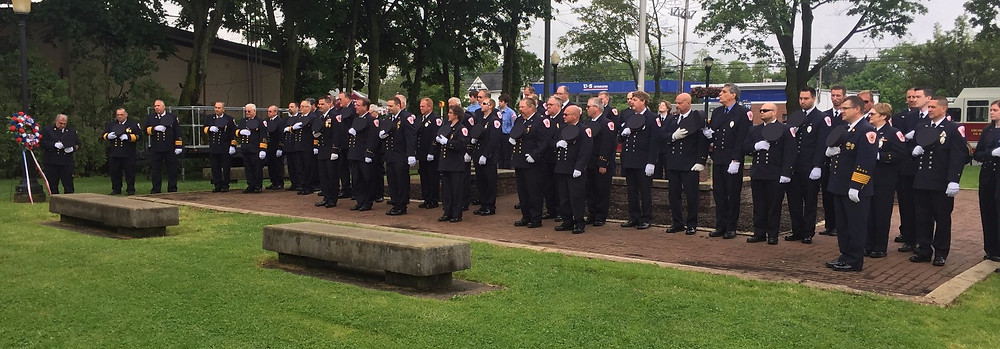 ENFD members pay respects at John Walsh Park in East Northport