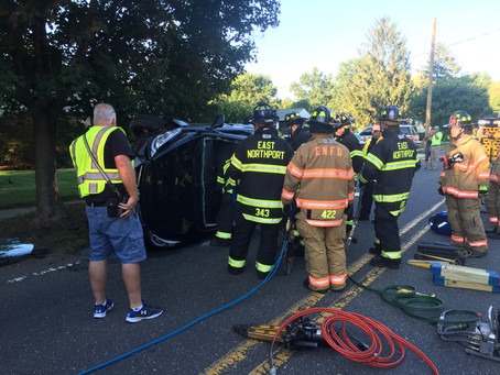 ENFD responds to overturned vehicle