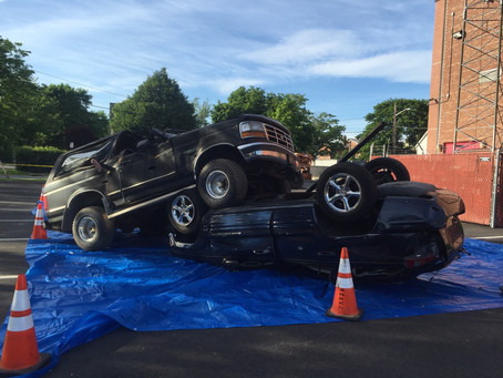 ENFD uses real vehicles for extrication training