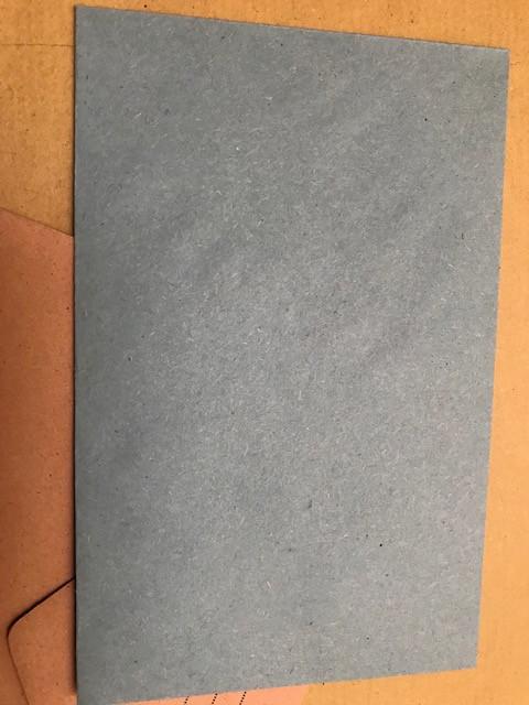 enveloppe bleue: glisser bulletin de vote dedans