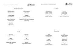 Cast from stage programme