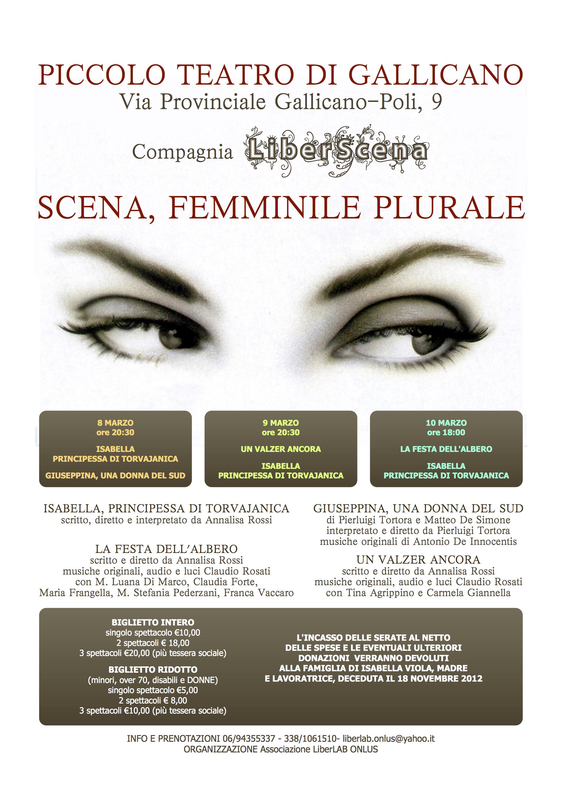 SCENA FEMMINILE PLURALE