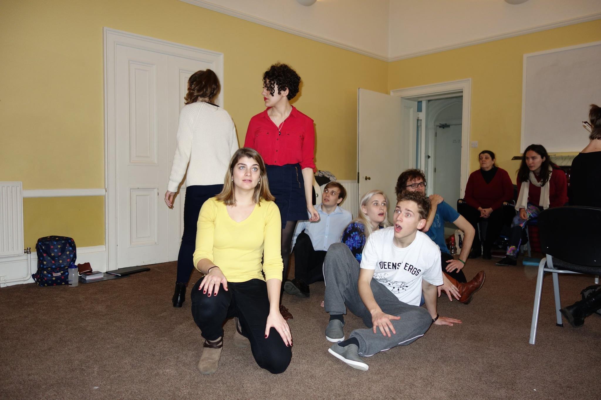 Rehearsal with choir