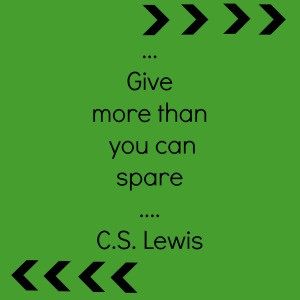 give more than spare