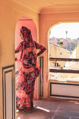 Indian Woman - Hawa Mahal, India
