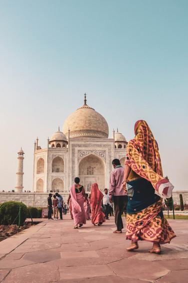 Indian Family - Taj Mahal, India