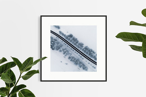 Snow Road - Lapland, Finland (Square Edition)
