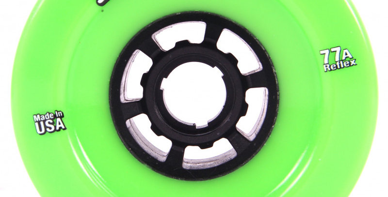 ABEC11 REFLY 97MM 77A WHEELS - LIME