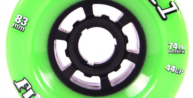 ABEC11 REFLY - 83mm 74A - Lime grønne