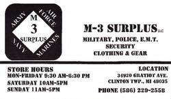 M-3 Surplus
