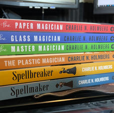Autographed paperback book set by Charlie Holmberg (pic 1/2)