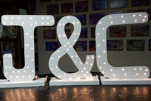 Letras Iluminadas en led´s de 50 cm de altas
