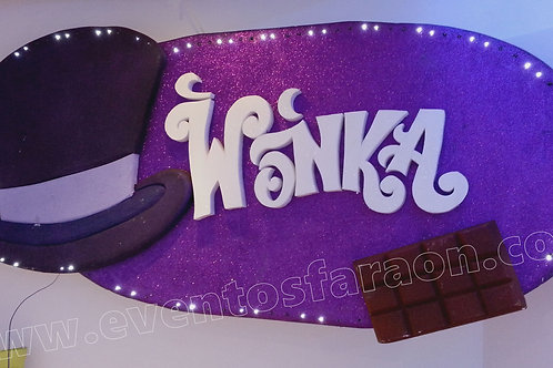 PORTAL WILLY WONKA ILUMINADO
