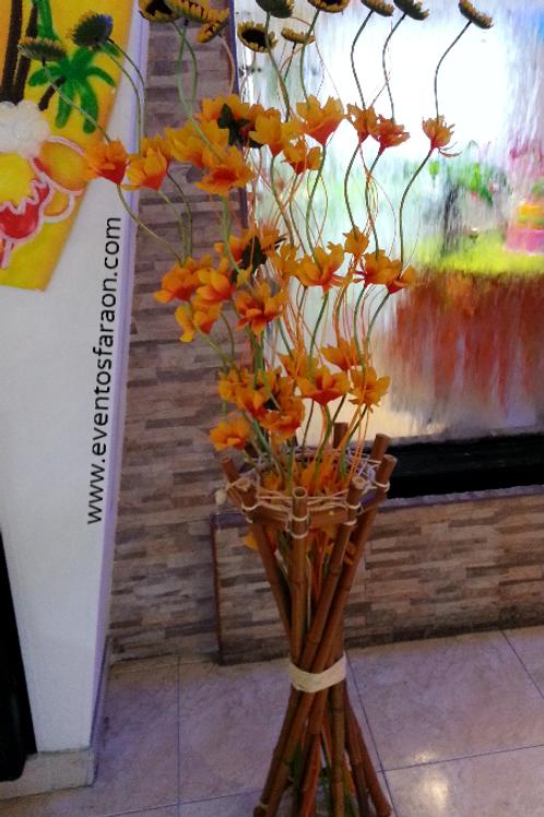 Girasoles en Bambu