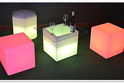 mesa de centro led