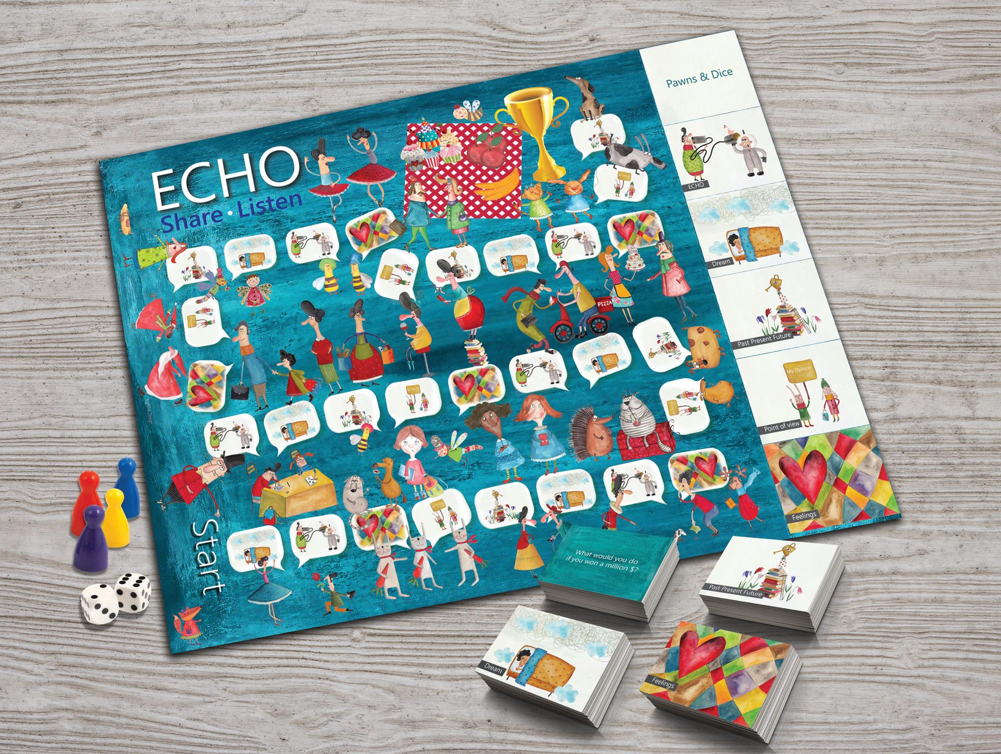 Echo board game, family game