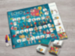 Echo, share, listen, board game, family therapy, psychology, team building, conversation, camping game, picnic game