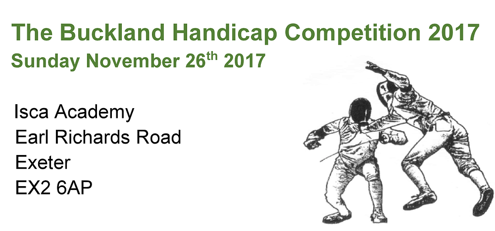 Buckland Handicap Fencing Competition 2017