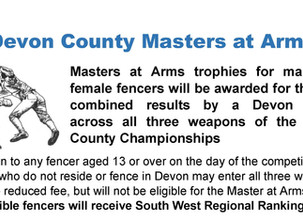 Devon County Fencing Union 2019 Competitions