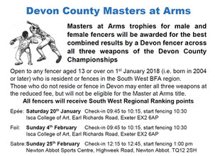 Devon County Master at Arms 2018